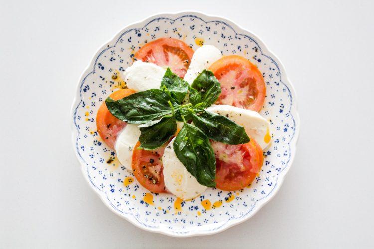 caprese, wegetariański jadłospis