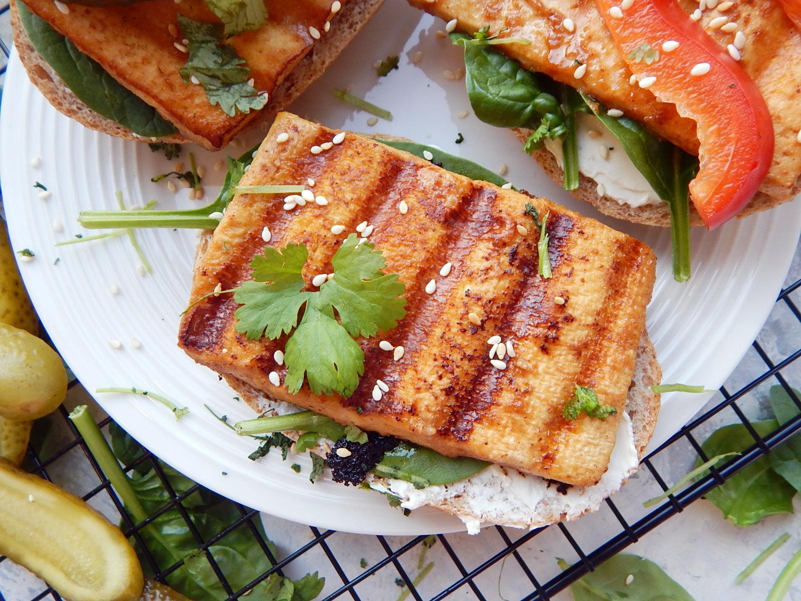 marynowane tofu, indywidualny jadlospis - marynowane tofu w marynacie z musztardy