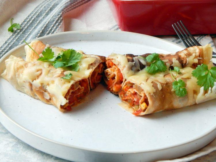 nalesniki wegetarianskie, meksykanskie, zdrowa dieta