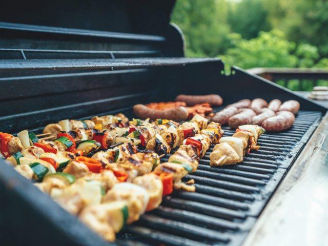 Zdrowa dieta, zdrowe odżywianie, grill