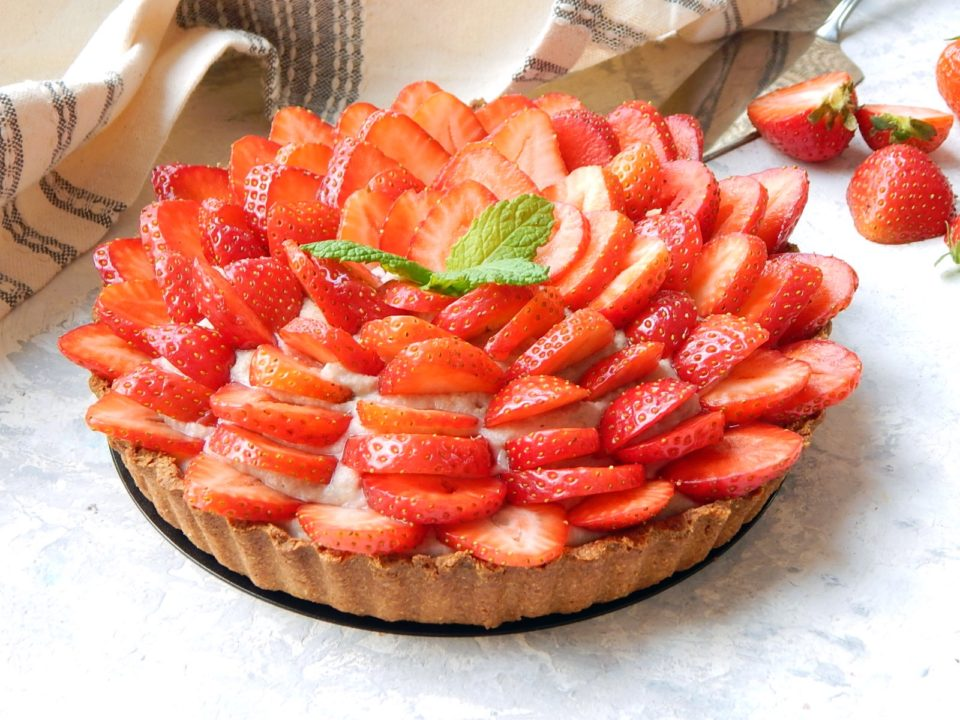 Tarta z truskawkami - pełnoziarnista, dietetyk a odchudzanie