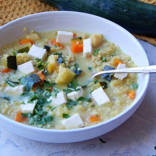 zupa cukiniowa, krupki, cukinia, warzywa, dietetyk online