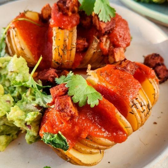 Ziemniaki z sosem meksykańskim
