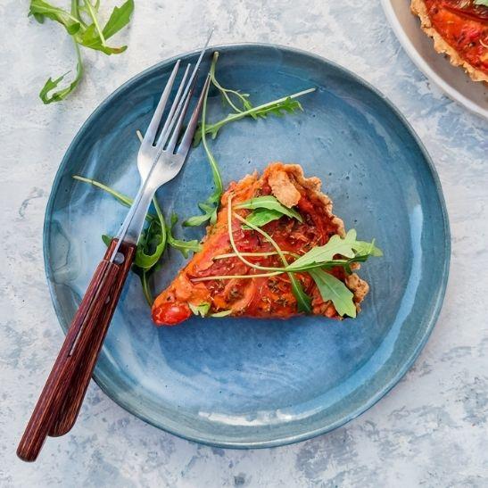 tarta pomidorowa, obiady na diecie, fit przepisy, pomysł na obiad